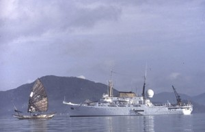 The Oceanographer.  1980 on voyage to China.  My step-father was the captain.