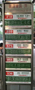The busstop.  I was taking the 536 which is at the bottom.  Pretty much everything is in Chinese.