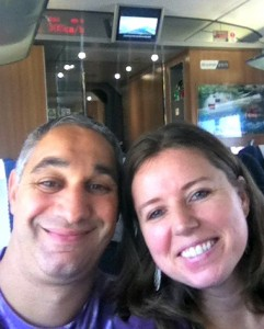 The happy couple on our way to Shanghai!