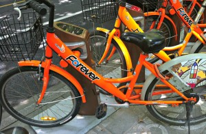 One of the Shanghai Bike Sharing bikes.