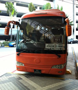 The bus from Singapore to Johor.