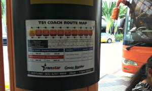 The bus stops and information.