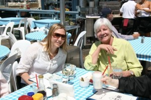 Hannah and Marjorie at Sam's in Tiburon