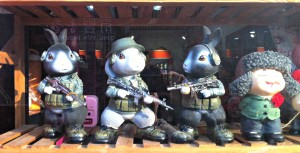 These bunnies look well trained and ready for anything!