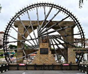 The beautiful Sultanate waterwheel.