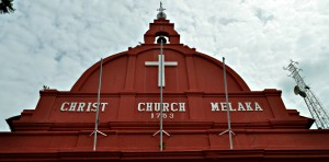 The Christ Church of Melaka.