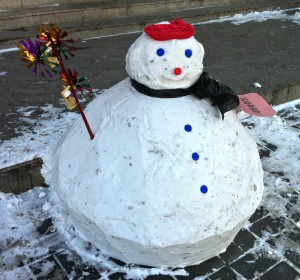 That is one very angular snowman.