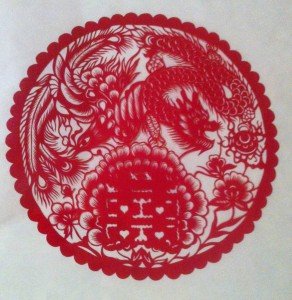 The papercut we bought from Zhang Yonghong.