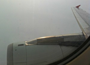 My one picture of the Hainan Airlines flight while in the air.