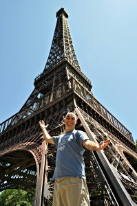 Me in front of the Eiffel Tower.