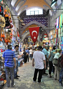 Shops, people and things for sale at The Grand Bazaar.