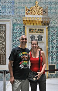 Jill and me at the Harem.