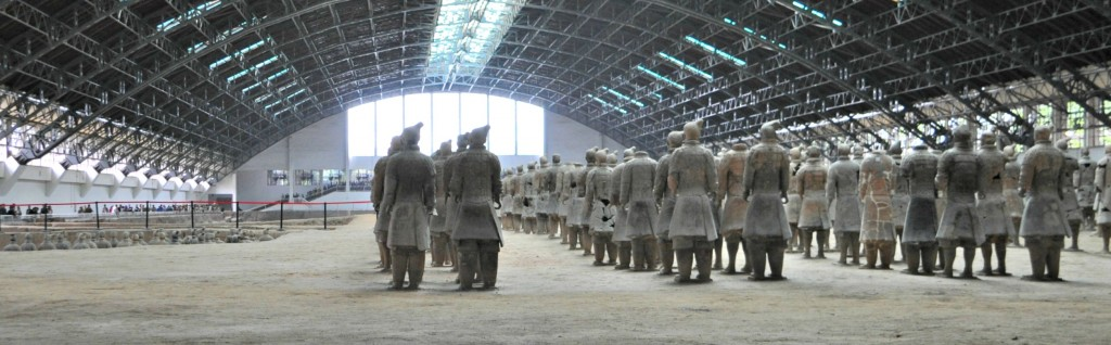 The final shot of the Terracotta Army.