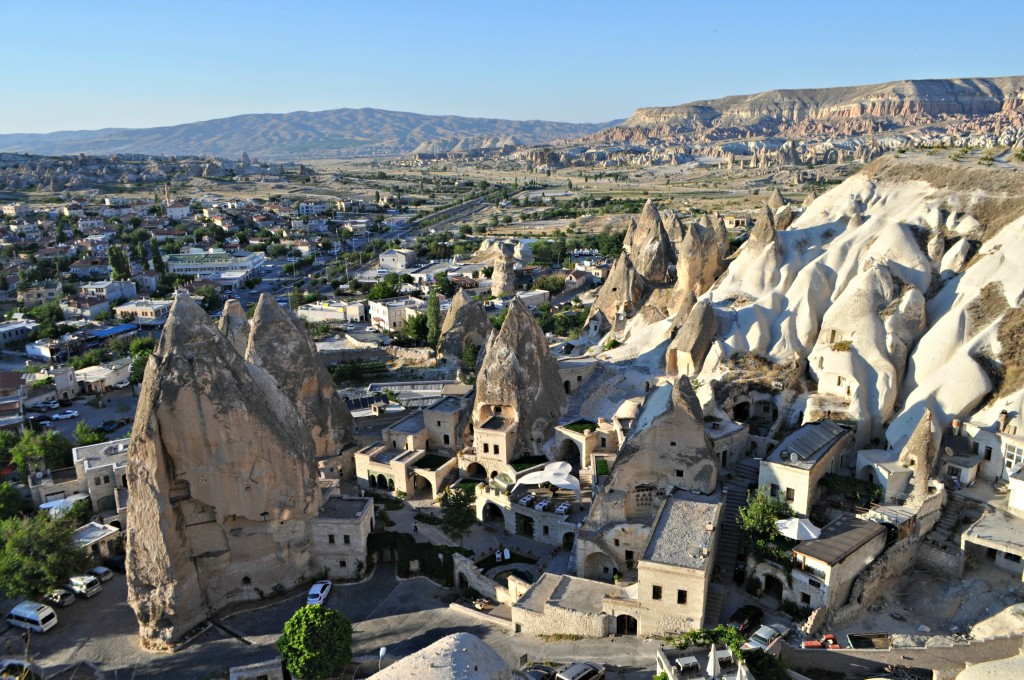 The view from the platform above Goreme.