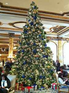 The Christmas tree at The Fairmont Hotel.