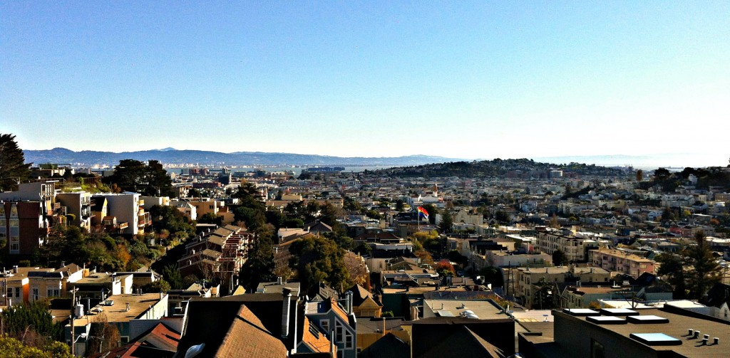 The view from one of the houses we are staying at over the Castro District.