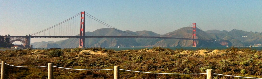 The Golden Gate Bridge from Crissy Field.