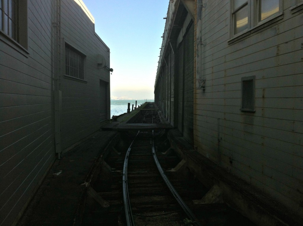 PIer 24 and traintracks.
