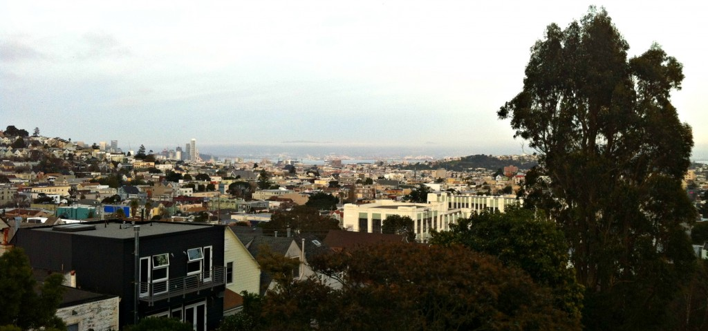 A view of downtown San Francisco from the deck from where we stayed one weekend.