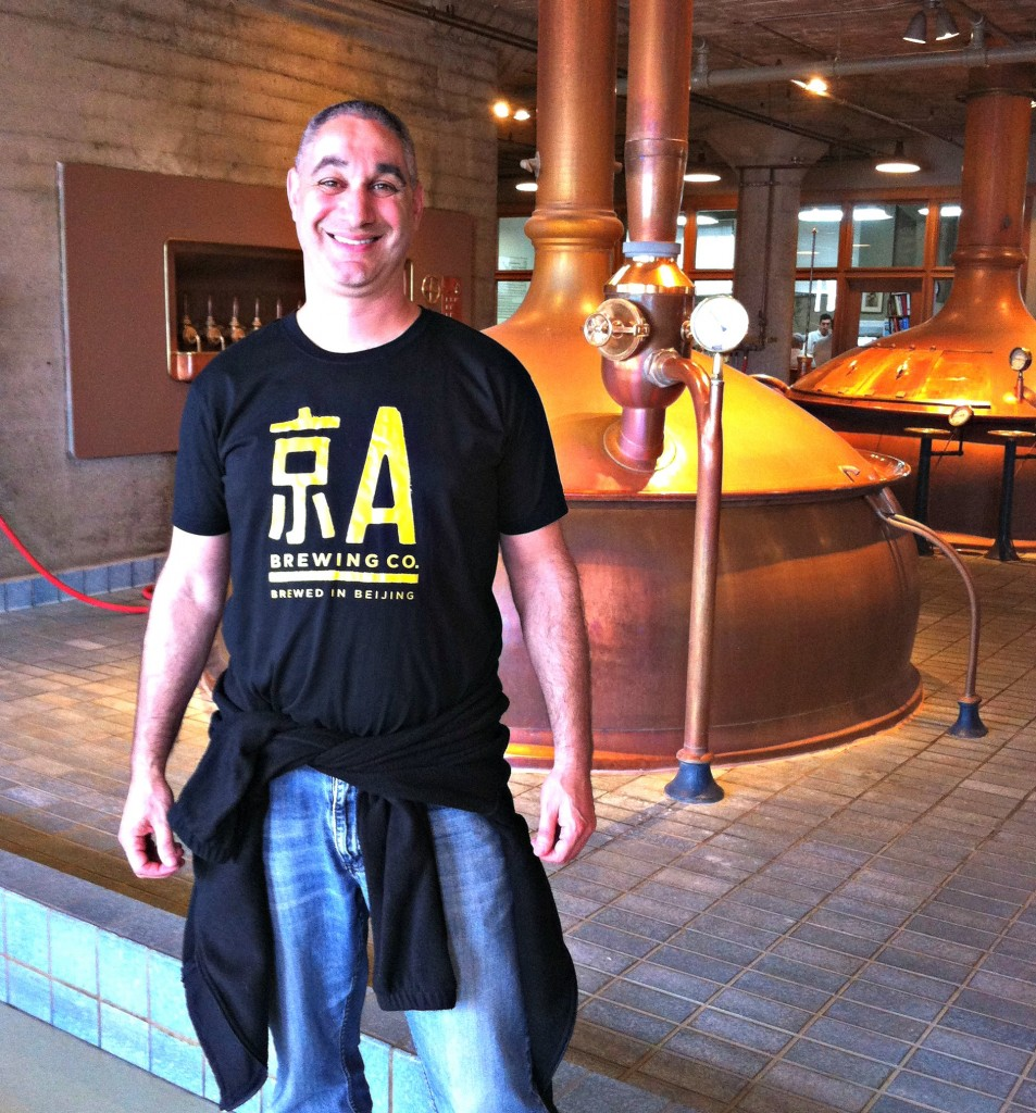 Jing A in the Anchor Steam Brewery!
