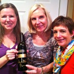 Jill, Leslie and Lisa with a signed bottle from Armista Winery.